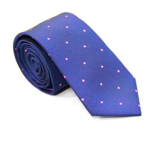 Pink Polka Dot Ties for Men