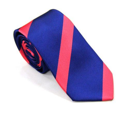 Pink Stripe Navy Tie for Men Ties Online