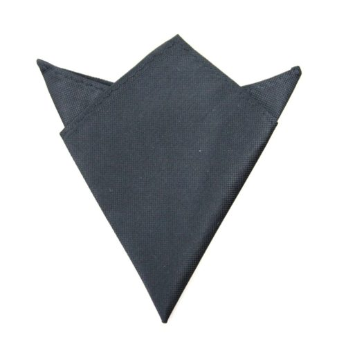 Black Pocket Square for Him