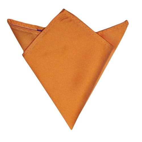 Orange Pocket Square for Weddings