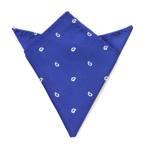 Navy Teardrop Pocket Square for Him