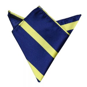Navy Yellow Pocket Square for Him