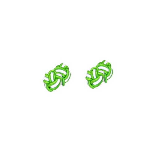 Green & White Sphere Cufflinks 3