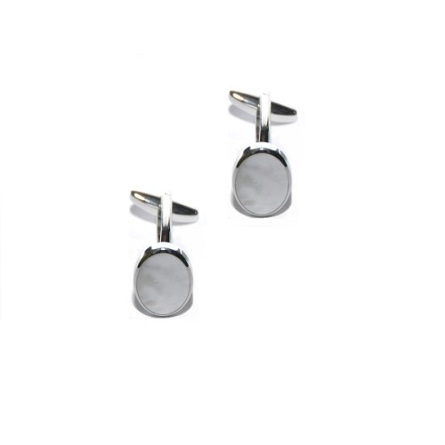 Mother of Pearl Silver Cufflinks 3