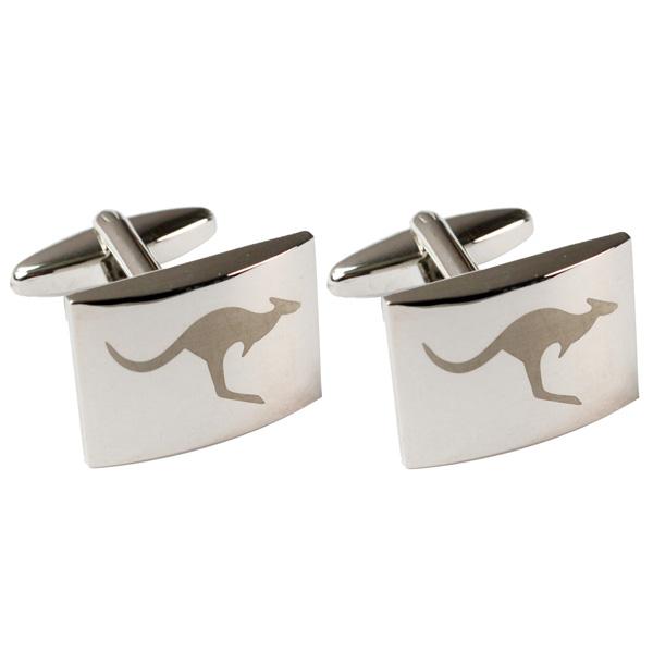 Silver Kangaroo Cufflinks 1