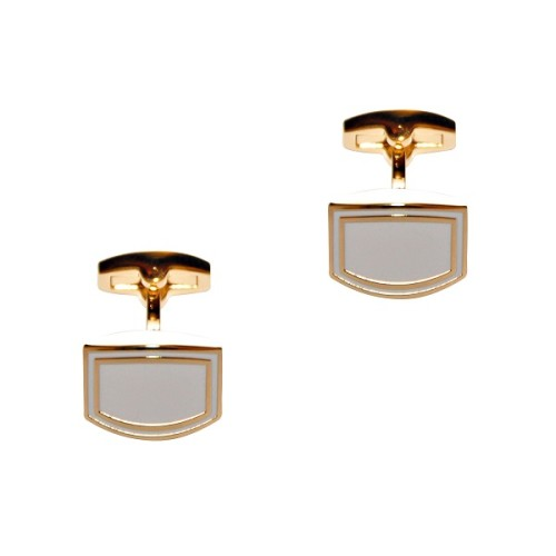 White & Gold Cufflinks 3