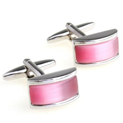 Pink Stone Cufflinks 3