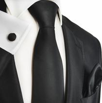 Black cufflink,ties pocket squares