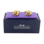 Gold Knot Cufflinks for Groomsmen Online