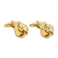 Classic Gold Knot Cufflinks for Groom Online