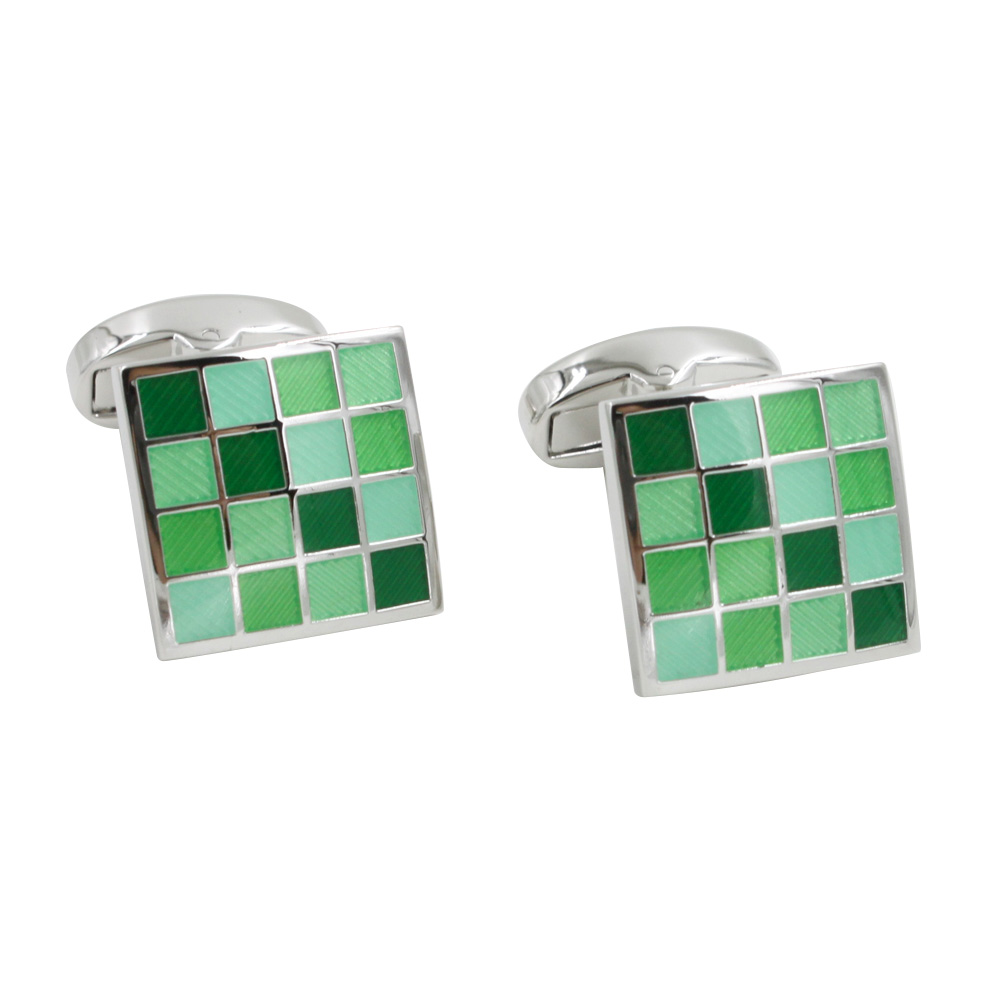 Green Checkered Cufflinks Online Australia
