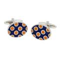 Ladybug Orange Navy Cufflinks