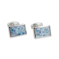 Rectangle Mosaic Cufflinks