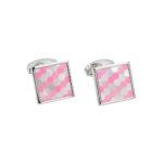 Pink White Cufflinks