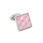 Pink Quadrant Cufflinks