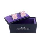 Pink Square Cufflinks