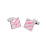 Pink tessellating pattern cufflinks