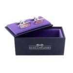 Pink Cufflinks Gift Box Wedding