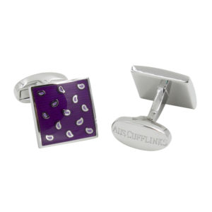 Purple Cufflinks Groomsmen Gift