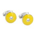 Yellow Cufflinks Groomsmen Gift