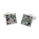 Quadrant Silver Mosaic Cufflinks