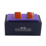 Orange Cufflinks for Him Australia