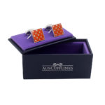 Orange Cufflinks Online Gifts for Him