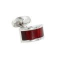 Dark Red Rectangle Cufflinks