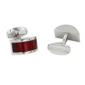 Red Semi Round Cufflinks