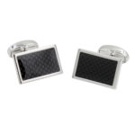 Carbon Fibre Wedding Cufflinks for Him Cufflinks Gifts for Groomsmen