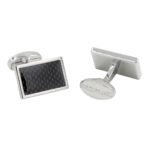 Carbon Fibre Wedding Cufflinks for Men Cufflinks Anniversary Present