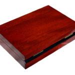 Great Gift for Men Wooden Cufflink Box