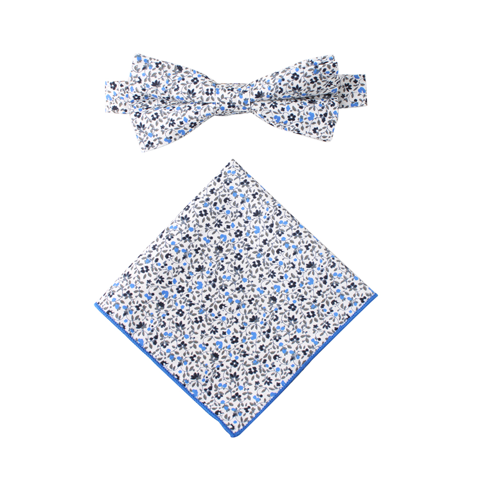Floral Bow Tie & Pocket Square for Weddings