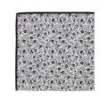 Black Print Floral Pocket Square for Parties