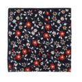 Black Red Amaryllis Floral Pocket Square Groom Wedding