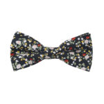 Black Red Yellow Multi Floral Bow Tie for Men