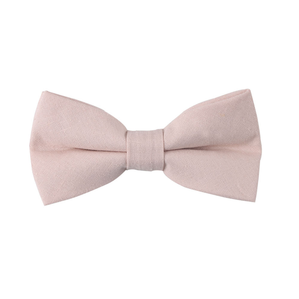 Light Pink Bow Ties for Groomsmen