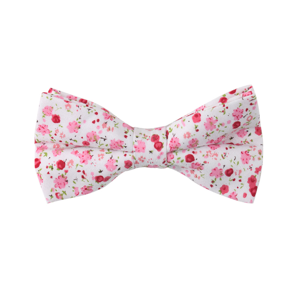 Tonal Pink Azalea Floral Bow Ties for Men