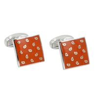 Tear Drop Orange Cufflinks
