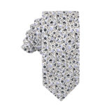 Black Print Floral Tie Groomsmen Weddings