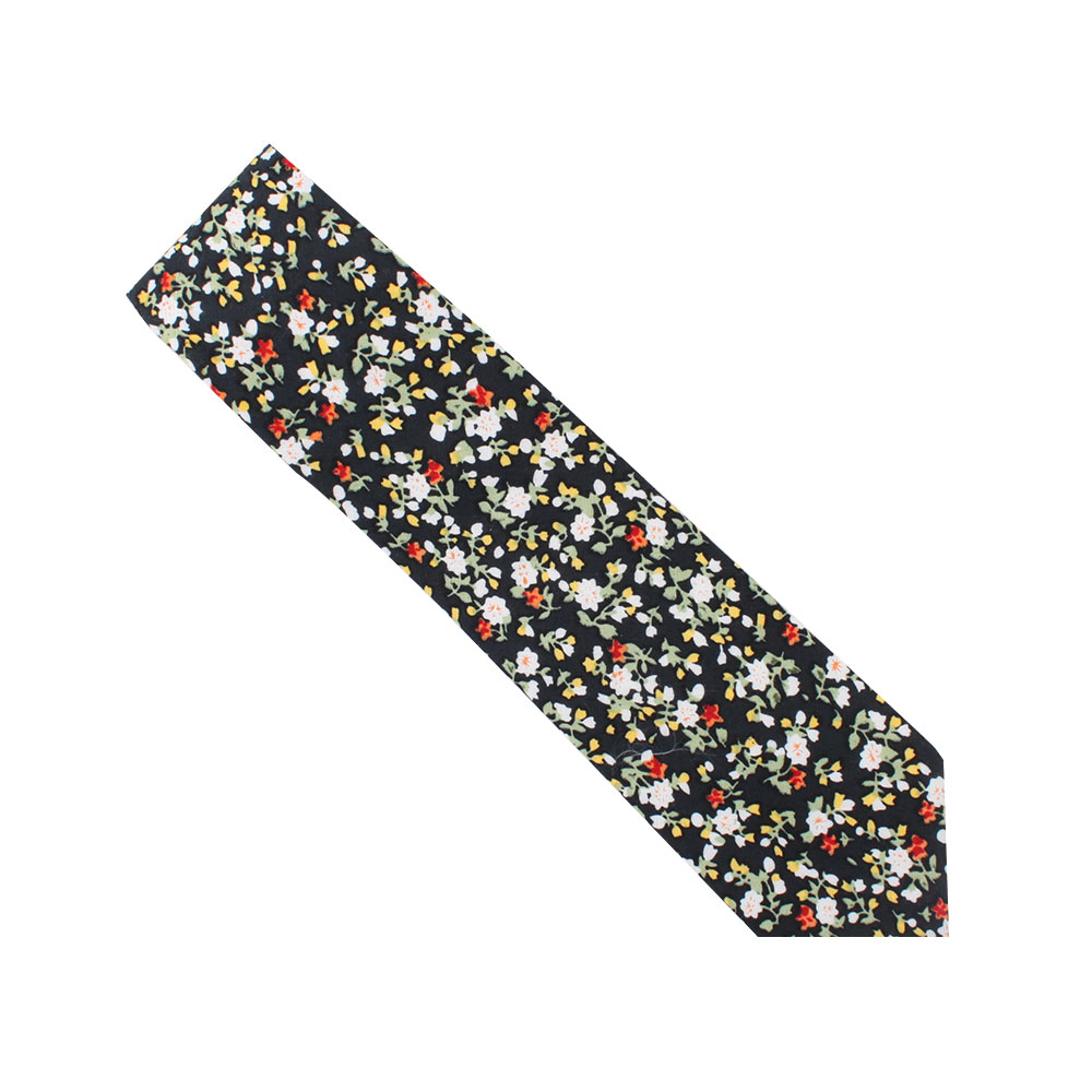 Black Red Yellow Multi Floral Tie Australia