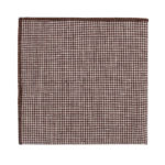 Brown Mini Houndstooth Pocket Square Groomsmen For Men