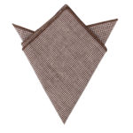 Brown Mini Houndstooth Pocket Squares Online Australia