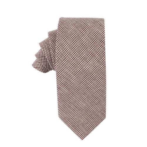 Brown Mini Houndstooth Ties for Men