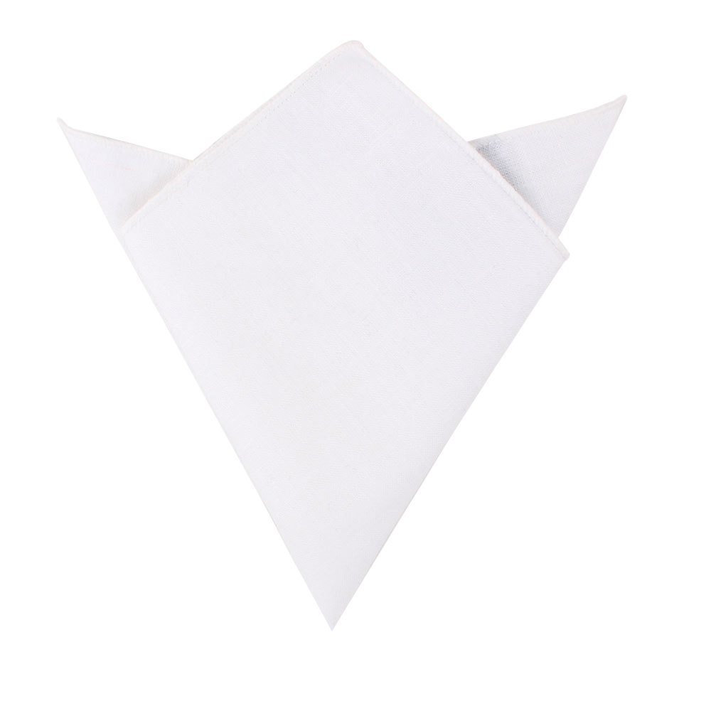 Classic White Pocket Square Groomsmen Melbourne