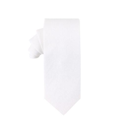 Classic White Tie for Groomsmen