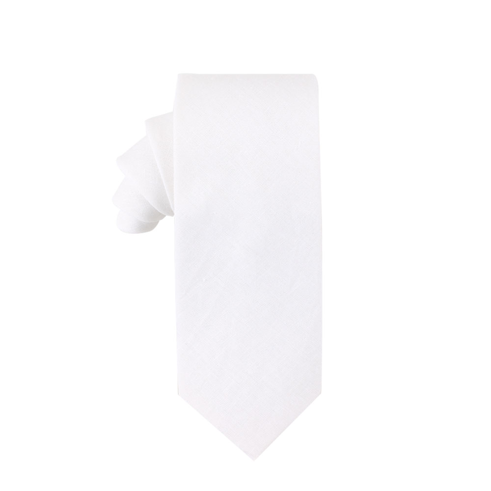 Classic White Tie for Groomsmen
