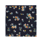 Floral Navy Yellow Pocket Square Weddings