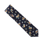 Floral Navy Yellow Tie For Men