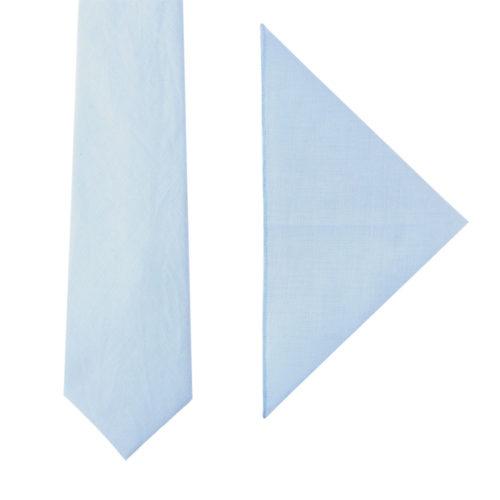 Light Blue Tie & Pocket Square Set Groomsmen Weddings